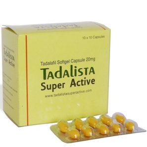 Tadalista super active 20mg soft gel caps